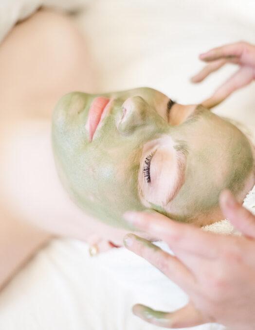 green facial mask